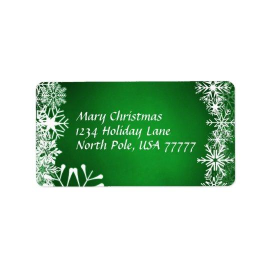 Christmas Address Avery Label