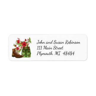"""Christmas address label for hikers"""