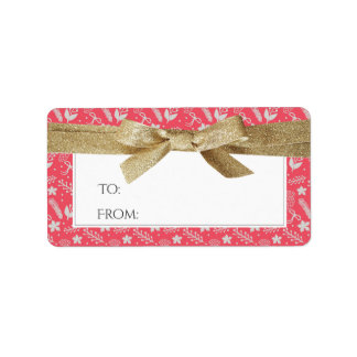 Christmas Address or Gift Labels | Gold Ribbon