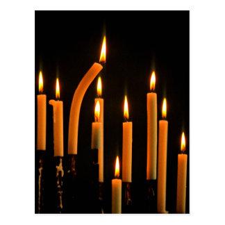 Christmas, Advent, burning orange candles Postcard