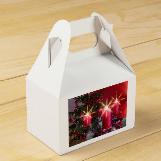 Christmas, Advent, burning pink candles festively, Favor Box