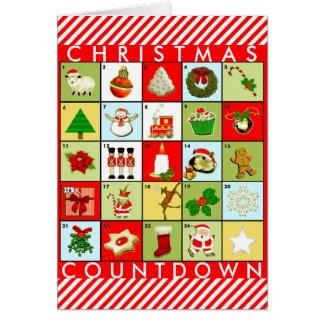Christmas Advent Calendar Card
