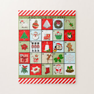 Christmas Advent Calendar Jigsaw Puzzle