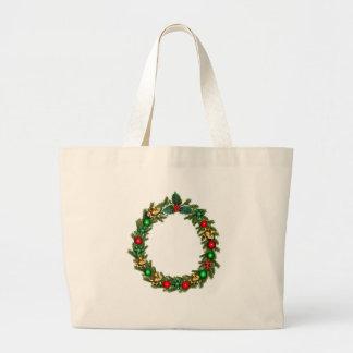 christmas advent decoration large tote bag