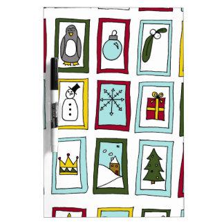 Christmas advent dry erase board