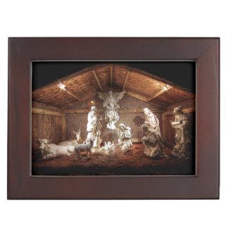 Christmas Advent Jesus Nativity Manger Scene Memory Box