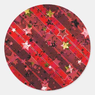 Christmas Advent Star Classic Round Sticker