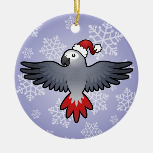 Christmas African Grey (medium bird) Christmas Ornament