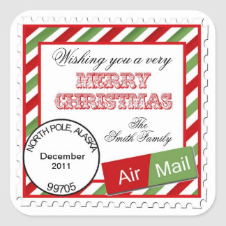 Christmas Air Mail  Stickers