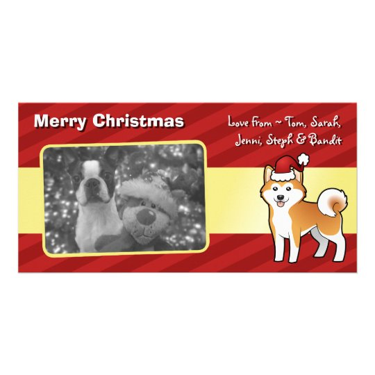 Christmas Akita Inu / Shiba Inu Customized Photo Card