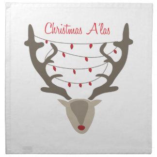 Christmas Alas Printed Napkins
