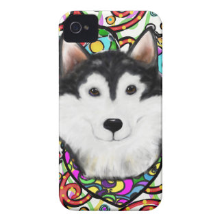 Christmas Alaskan Malamute iPhone 4 Cover
