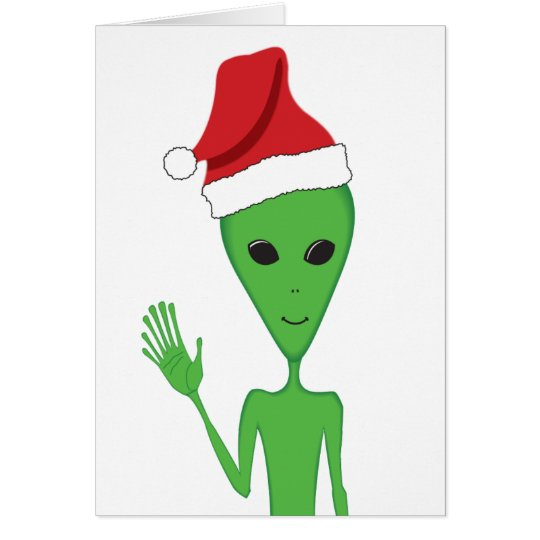 Christmas Alien Season's Greetings Card