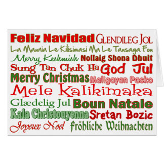 Christmas All Over the World Greeting Card