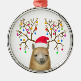 Christmas Alpaca Ornament