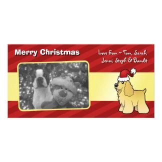 Christmas American Cocker Spaniel Photo Cards