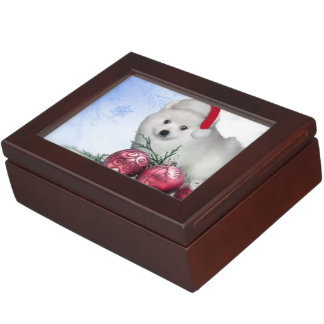 Christmas American Eskimo puppy Memory Box