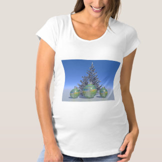 christmas and balls and tree maternity T-Shirt
