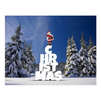 Christmas and Santa Claus postcard