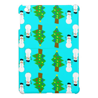 christmas and snowman.ai iPad mini cover