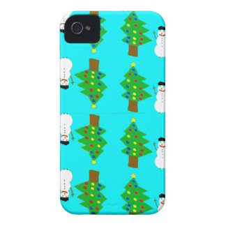 christmas and snowman.ai iPhone 4 Case-Mate case