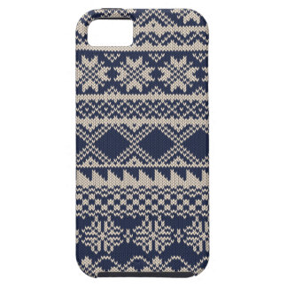Christmas and Winter knitted pattern iPhone 5 Case
