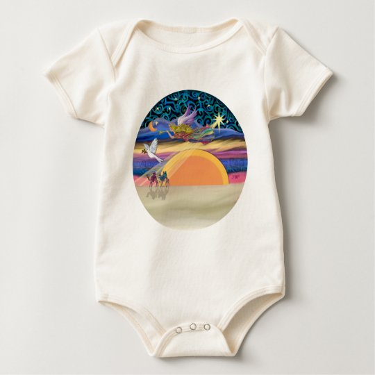 Christmas Angel - Add Your Pet Baby Bodysuit