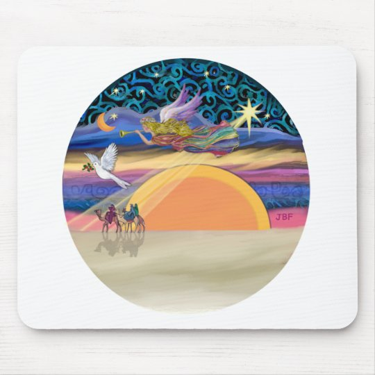 Christmas Angel - Add Your Pet Mouse Pad