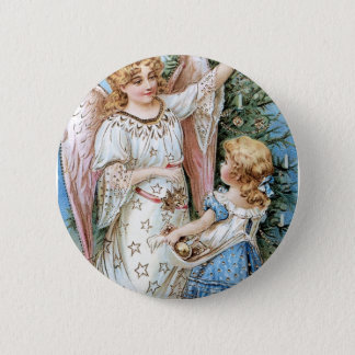 Christmas Angel and Child 2 Inch Round Button