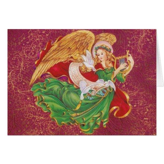 Christmas Angel - Ange De Noel Card