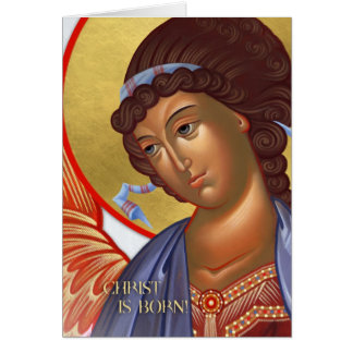 Christmas Angel Card with Nativity scene inside