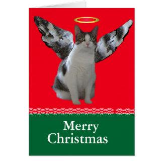 Christmas Angel Cat Card
