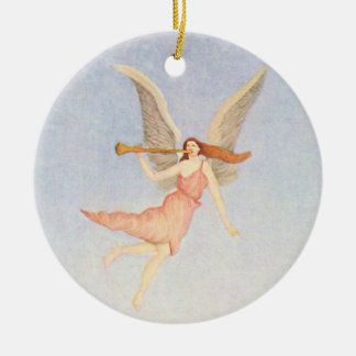 Christmas Angel Ceramic Ornament