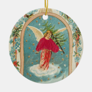 Christmas Angel Ceramic Ornament