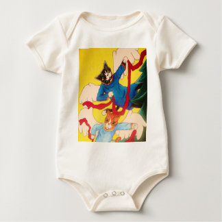 Christmas Angel Cherub Cats Baby Bodysuit