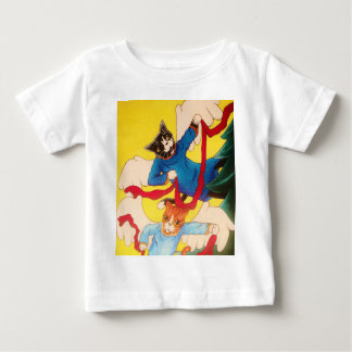Christmas Angel Cherub Cats Baby T-Shirt