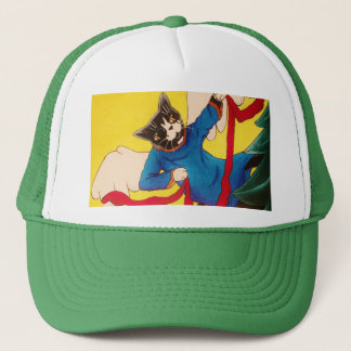 Christmas Angel Cherub Cats Trucker Hat