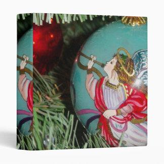 Christmas angel - christmas art -angel decorations 3 ring binder