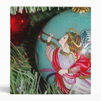 Christmas angel - christmas art -angel decorations 3 ring binders