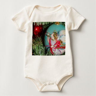 Christmas angel - christmas art -angel decorations baby bodysuit