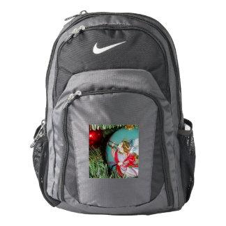Christmas angel - christmas art -angel decorations backpack