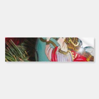 Christmas angel - christmas art -angel decorations bumper sticker