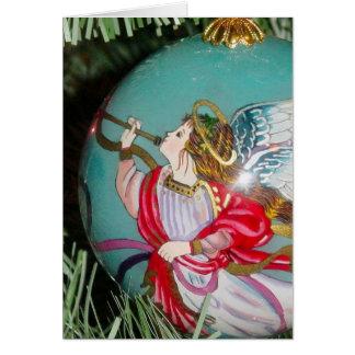 Christmas angel - christmas art -angel decorations card