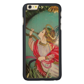 Christmas angel - christmas art -angel decorations carved maple iPhone 6 plus case