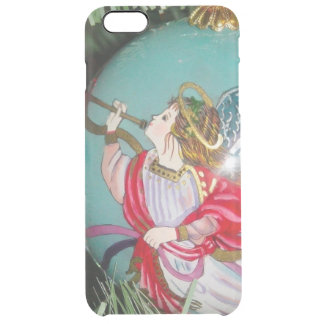 Christmas angel - christmas art -angel decorations clear iPhone 6 plus case