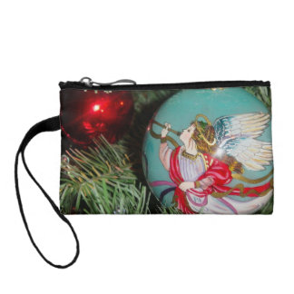 Christmas angel - christmas art -angel decorations coin purse