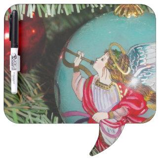 Christmas angel - christmas art -angel decorations dry erase board