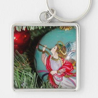 Christmas angel - christmas art -angel decorations keychain