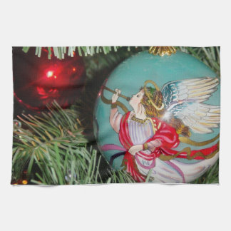 Christmas angel - christmas art -angel decorations kitchen towel