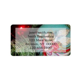 Christmas angel - christmas art -angel decorations label